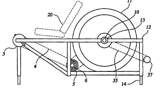 Figure 4. Basic schematic of the device described by US Patent #US6983948B2