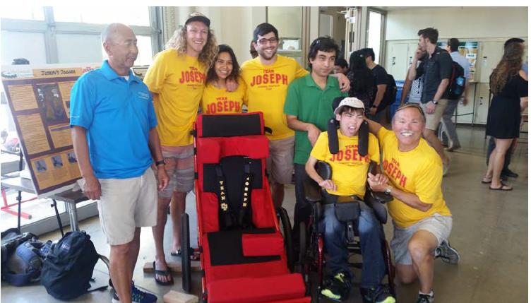 Figure 7.1 Senior Expo (left to right: Michael Lara, Luke Kraemer, Carolina Reyes, Josh Egli, Robert Trujillo, Joseph Cornelius, John Cornelius)