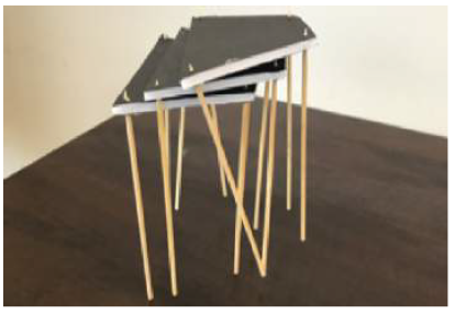 Figure 4.9: Concept modeling of small stacking tables.