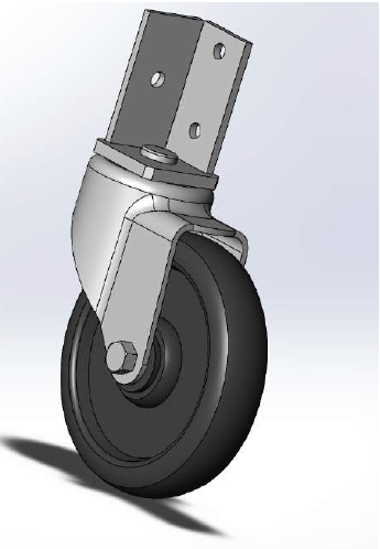 Figure 5.23: Solidworks model of the selected caster.