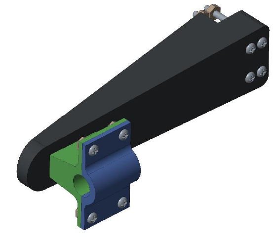 Figure 28. Measurement device mounting assembly.