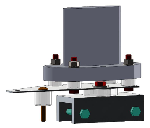 Figure 18. Mounting assembly overview with linear drive mounting plate shown (top).
