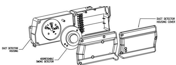 Figure 19. Duct-type Smoke Detectors Detail