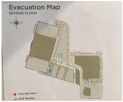 Figure 49. Evacuation Map of 2 nd Floor.