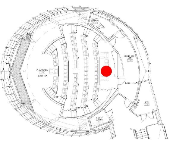 Figure 58 Planetarium Fire Location